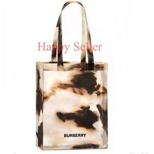 Burberry Tote Bag Purse Sheer Calf Print Shopper